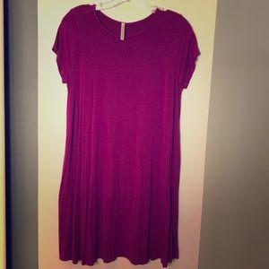 Plum mini dress or tunic